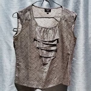 4P NEW Talbots Sleeveless Brown Blouse